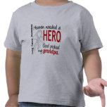 Heaven Needed A Hero Grandpa Lung Cancer Shirt