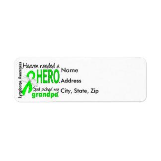 Heaven Needed a Hero Grandpa Lymphoma Label