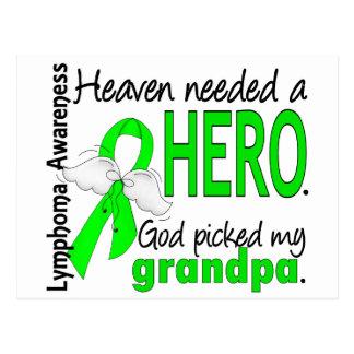 Heaven Needed a Hero Grandpa Lymphoma Postcard