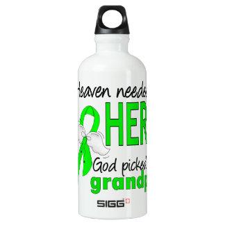 Heaven Needed a Hero Grandpa Lymphoma Water Bottle