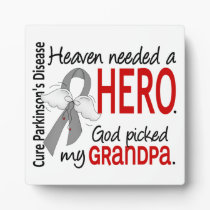 Heaven Needed a Hero Grandpa Parkinson's Plaque