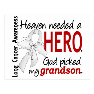 Heaven Needed a Hero Grandson Lung Cancer Postcard