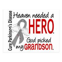 Heaven Needed a Hero Grandson Parkinson's Postcard