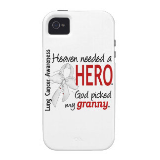 Heaven Needed A Hero Granny Lung Cancer Case-Mate iPhone 4 Covers