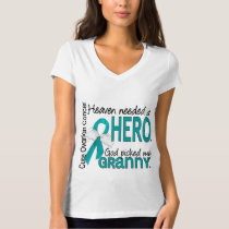 Heaven Needed a Hero Granny Ovarian Cancer T-Shirt