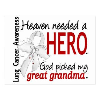 Heaven Needed a Hero Great Grandma Lung Cancer Postcard