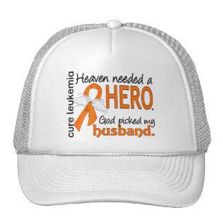 Heaven Needed a Hero Husband Leukemia Trucker Hat
