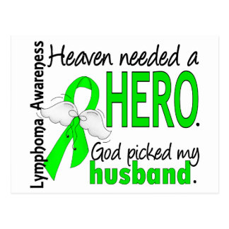 Heaven Needed a Hero Husband Lymphoma Postcard