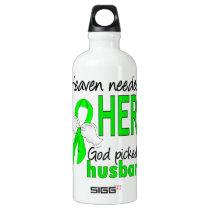 Heaven Needed a Hero Husband Lymphoma Water Bottle