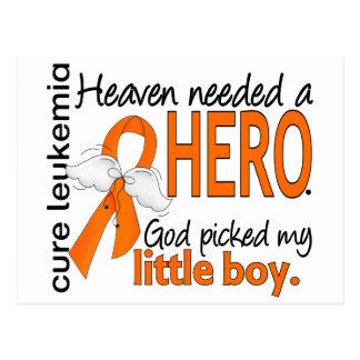 Heaven Needed a Hero Little Boy Leukemia Postcard