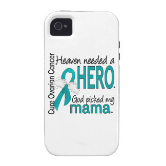 Heaven Needed a Hero Mama Ovarian Cancer iPhone 4 Cases