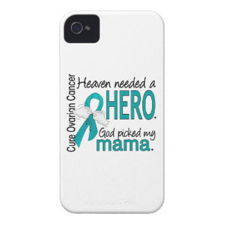 Heaven Needed a Hero Mama Ovarian Cancer iPhone 4 Case-Mate Cases