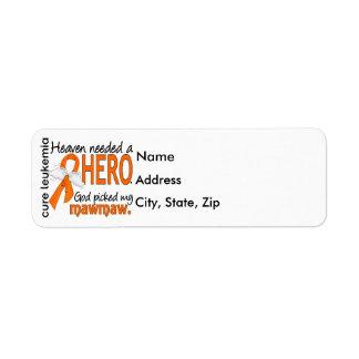 Heaven Needed a Hero Mawmaw Leukemia Return Address Label
