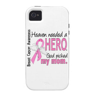 Heaven Needed A Hero Mom Breast Cancer iPhone 4 Case
