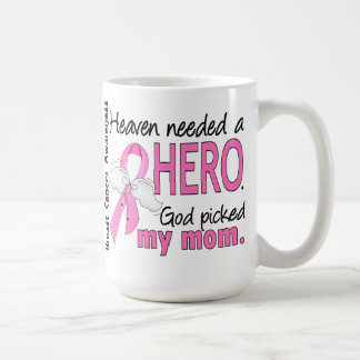 Heaven Needed A Hero Mom Breast Cancer Coffee Mug