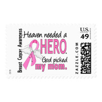 Heaven Needed A Hero Mom Breast Cancer Postage