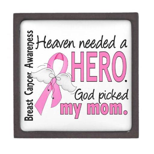 Heaven Needed A Hero Mom Breast Cancer Premium Trinket Box