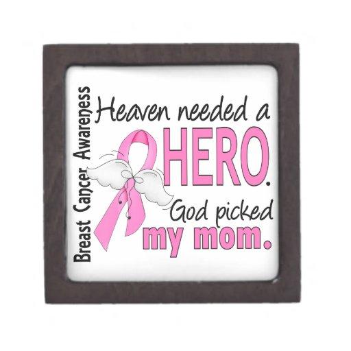 Heaven Needed A Hero Mom Breast Cancer Premium Gift Box