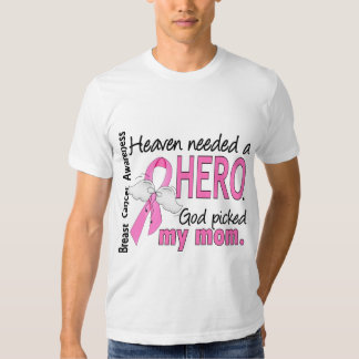 Heaven Needed A Hero Mom Breast Cancer T Shirt