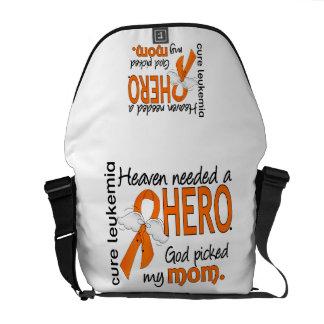 Heaven Needed a Hero Mom Leukemia Messenger Bags