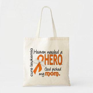 Heaven Needed a Hero Mom Leukemia Tote Bags