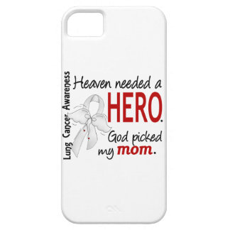 Heaven Needed A Hero Mom Lung Cancer iPhone SE/5/5s Case