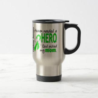 Heaven Needed a Hero Mom Lymphoma 15 Oz Stainless Steel Travel Mug