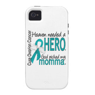 Heaven Needed a Hero Momma Ovarian Cancer iPhone 4/4S Cases