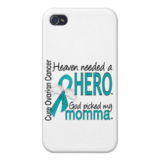 Heaven Needed a Hero Momma Ovarian Cancer iPhone 4 Case