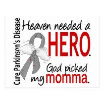 Heaven Needed a Hero Momma Parkinson's Postcard