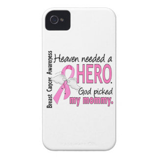 Heaven Needed A Hero Mommy Breast Cancer iPhone 4 Case-Mate Cases