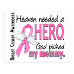 Heaven Needed A Hero Mommy Breast Cancer Postcard