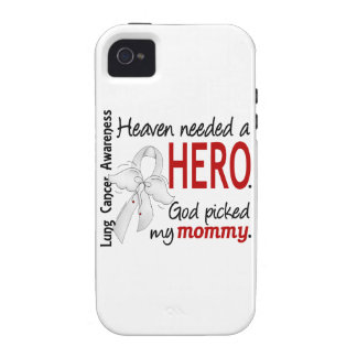 Heaven Needed A Hero Mommy Lung Cancer Case-Mate iPhone 4 Cover