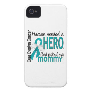 Heaven Needed a Hero Mommy Ovarian Cancer Case-Mate iPhone 4 Cases
