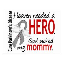 Heaven Needed a Hero Mommy Parkinson's Postcard