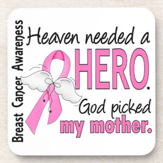 Heaven Needed A Hero Mother Breast Cancer Coaster