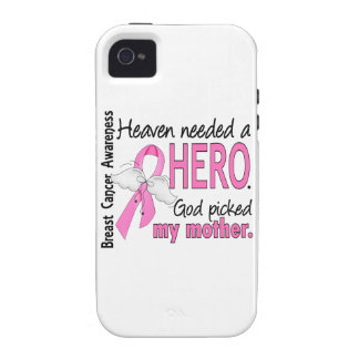 Heaven Needed A Hero Mother Breast Cancer Vibe iPhone 4 Covers
