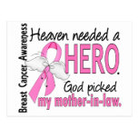 Heaven Needed A Hero Mother-In-Law Breast Cancer Postcard