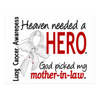 Heaven Needed a Hero Mother-In-Law Lung Cancer Postcard