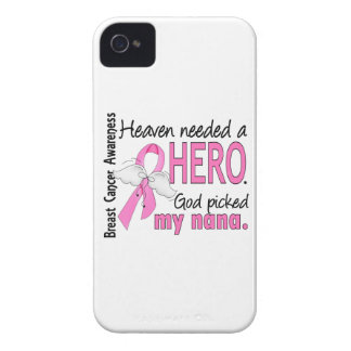 Heaven Needed A Hero Nana Breast Cancer iPhone 4 Case-Mate Cases