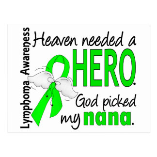 Heaven Needed a Hero Nana Lymphoma Postcard