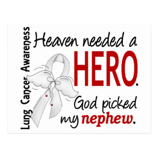 Heaven Needed a Hero Nephew Lung Cancer Postcard