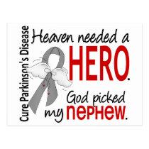 Heaven Needed a Hero Nephew Parkinson's Postcard