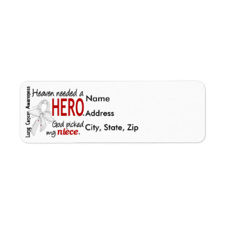 Heaven Needed a Hero Niece Lung Cancer Label