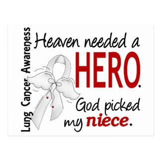 Heaven Needed a Hero Niece Lung Cancer Postcard