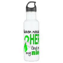 Heaven Needed a Hero Niece Lymphoma Water Bottle