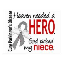 Heaven Needed a Hero Niece Parkinson's Postcard