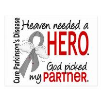 Heaven Needed a Hero Partner Parkinson's Postcard