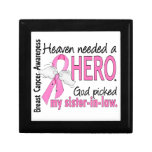 Heaven Needed A Hero Sister-In-Law Breast Cancer Keepsake Boxes