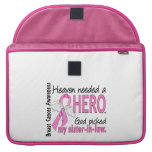 Heaven Needed A Hero Sister-In-Law Breast Cancer Sleeve For MacBook Pro